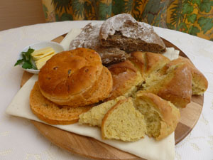 Shoreview B&B | Breakfast Bread Selection